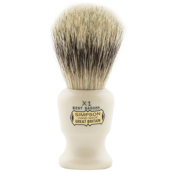 Simpsons Commodore X1 Best Badger Shaving Brush