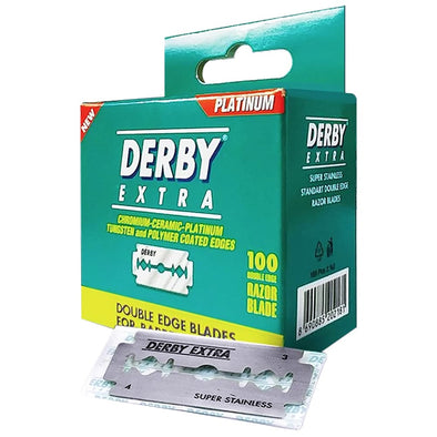 Derby Extra Plastic-Free Double Edge Blades (100)