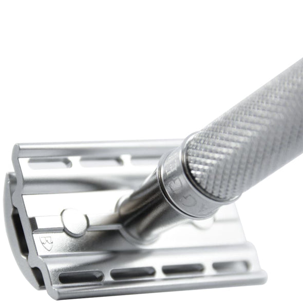 Edwin Jagger 3ONE6 Safety Razor Stainless Steel Knurled