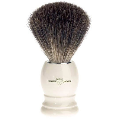Edwin Jagger Best Badger Shaving Brush Faux Ivory 81P27