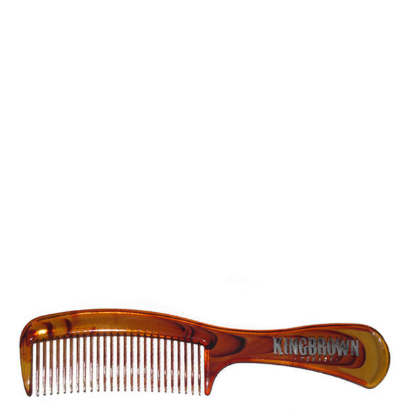 King Brown Handle Hair Comb Faux Tortoiseshell 172mm