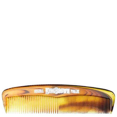 King Brown Pocket Hair Comb Faux Tortoiseshell 126mm