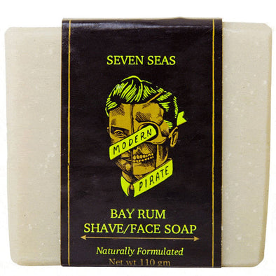 Modern Pirate Bay Rum Face and Shave Soap 110g