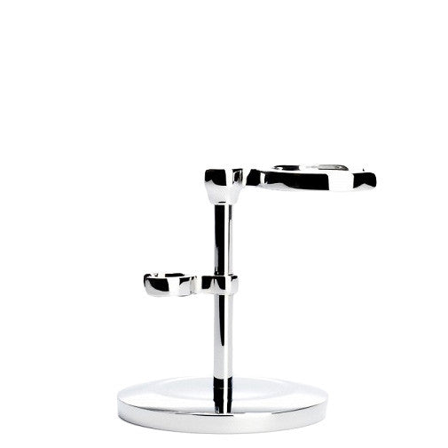 Muhle Razor & Brush Stand Chrome RHMSRSET