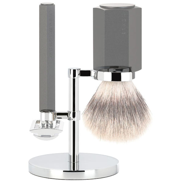 Muhle Hexagon Razor & Brush Stand Chrome RHM HXG