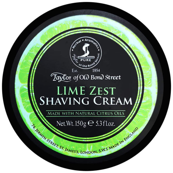 Taylor of Old Bond Street Lime Zest Shaving Cream 150g