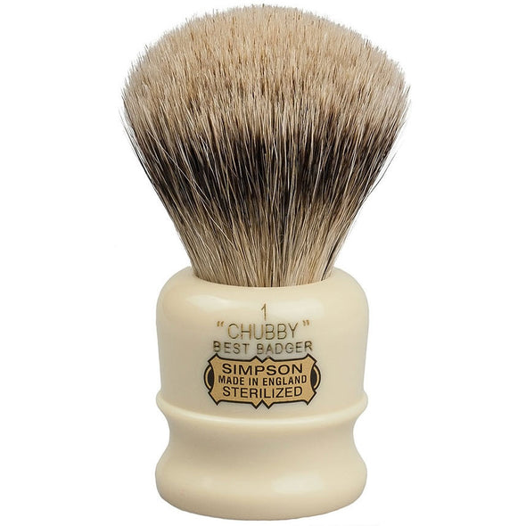 Simpsons Best Badger Shaving Brush Chubby 1