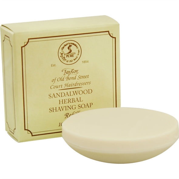 Taylor of Old Bond Street Sandalwood Shaving Soap Refill 100g
