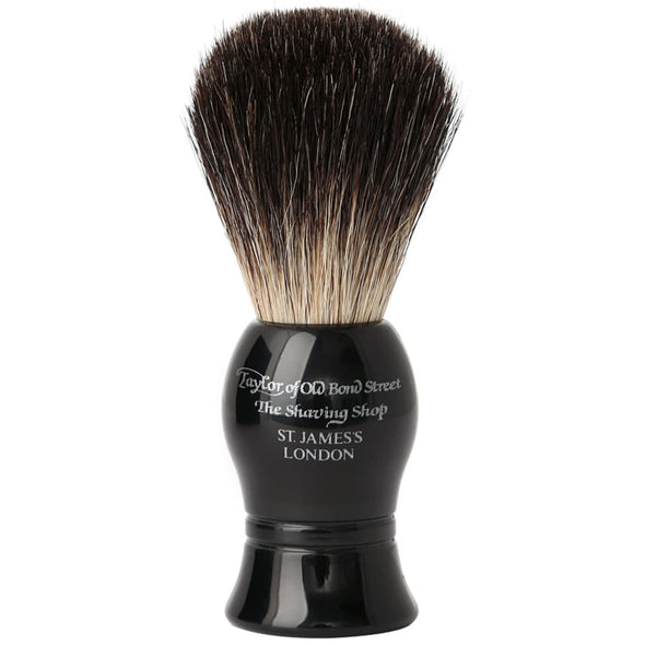 Taylor of Old Bond Street Shaving Brush Pure Badger Black