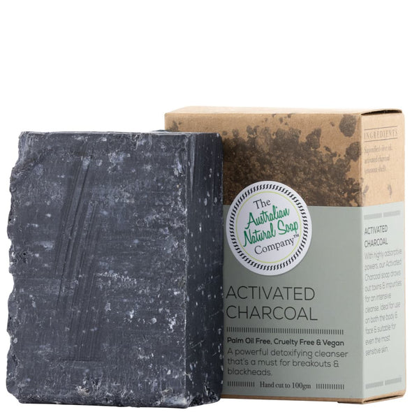 The Australian Natural Soap Company Activated Charcoal Face Soap 100g