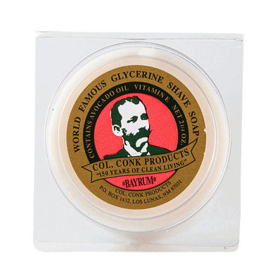 Colonel Conk Bay Rum Glycerine Shaving Soap 64g