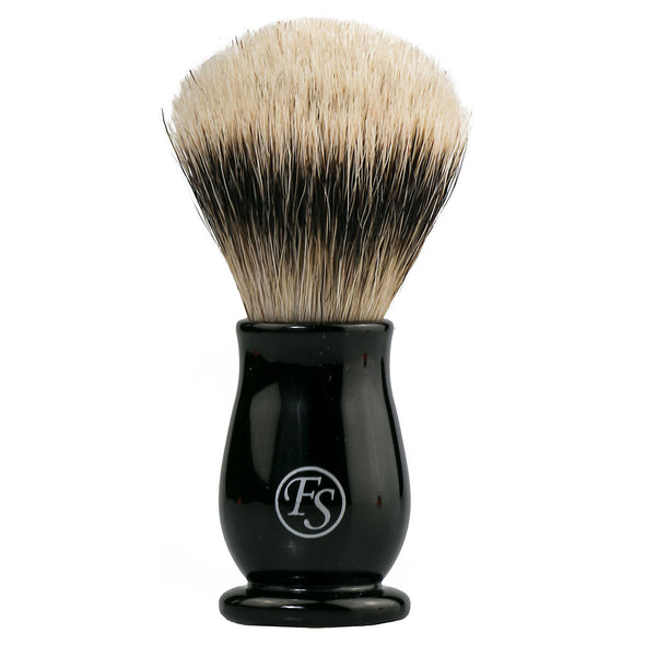 Frank Shaving Synthetic Silvertip Shaving Brush Black #19