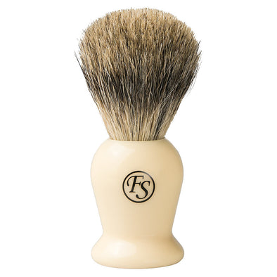 Frank Shaving Pure Badger Shaving Brush Ivory
