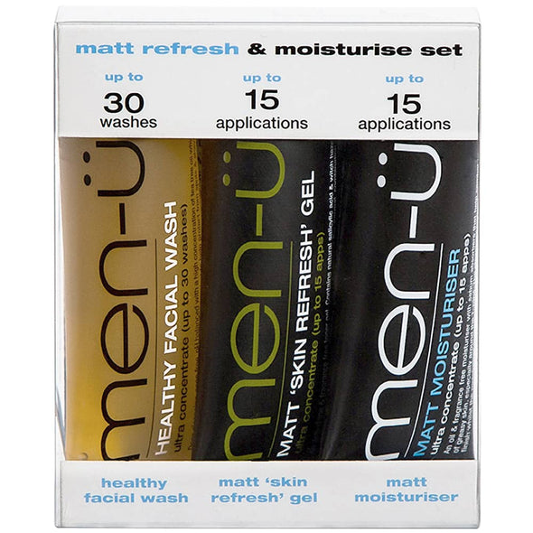 men-ü Matt Refresh & Moisturise Set 3 x 15ml