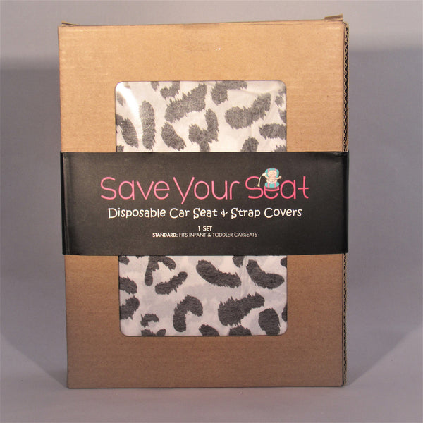 Save Your Seat Disposable Seat & Strap Cover Leopard/1-Pack