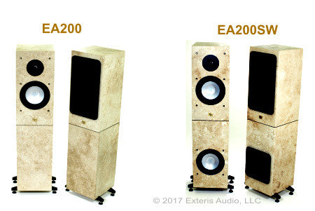 Exteris Audio EA200/200SW Real Stone Hardwired Outdoor Speakers