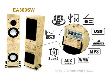 Exteris Audio EA300SW Real Stone Outdoor Stereo/Speakers