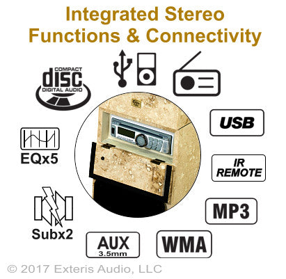 Exteris Audio EA300SW Real Stone Outdoor Stereo Functions