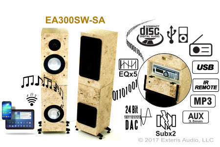 Exteris Audio EA300SW-SA Real Stone Streaming Outdoor Stereos
