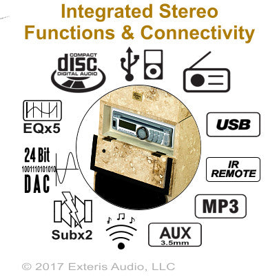 Exteris Audio EA300SW Real Stone WiFI/Streaming Audio Outdoor Stereo Functions
