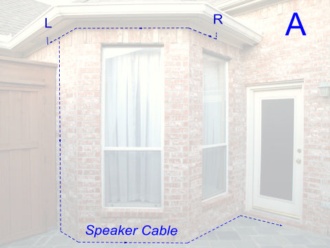Exteris Install Guide: Hardwired Outdoor Speakers Speakers - Thru-Attic Example