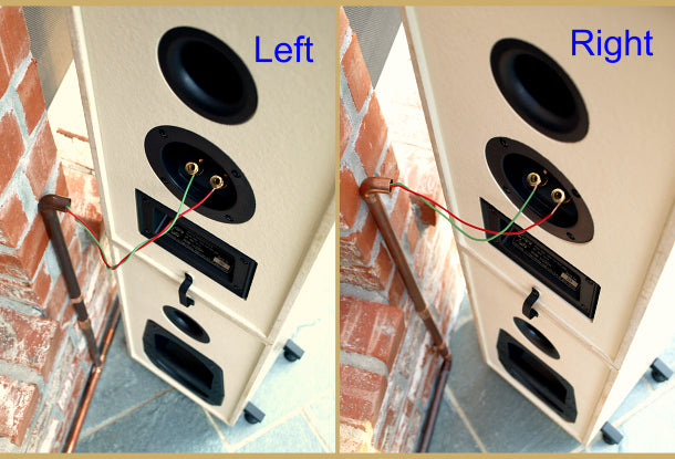 Exteris Outdoor Speaker Install Guide: Hardwired Speakers - Thru-Wall Example