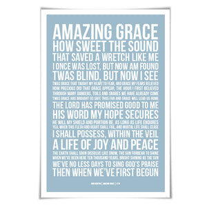 Amazing Grace Art Print. 60 Colours/3 Sizes. Bible Verse Art. Scripture. Inspirational Christian Poster. Biblical Prayer