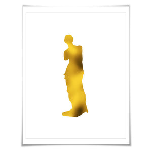 Aphrodite Venus de Milo Gold Foil Art Print. 7 Foil Colours/3 Sizes. Greek Art Sculpture Ancient Greece Classical Art
