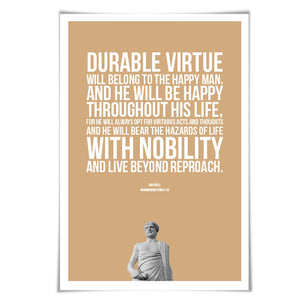 Aristotle Inspirational Quote Philosophy History Poster. 5 Sizes. Gift for Philosopher Teacher Gift Classroom Art