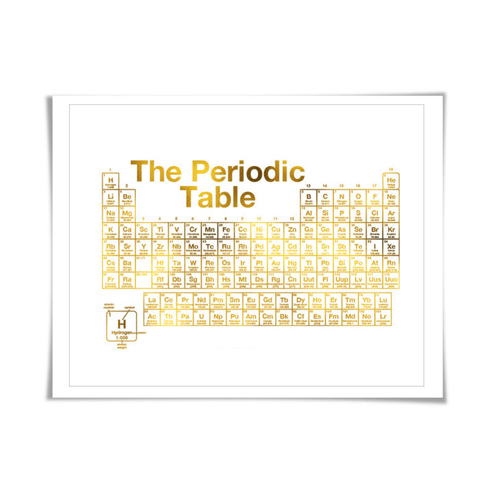 Periodic table of the elements gold foil print 7 foil colours periodic table of the elements gold foil print 7 foil colours science poster urtaz Image collections