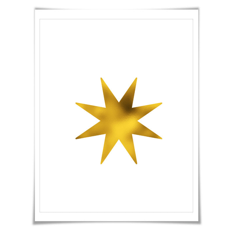 Star Gold Foil Art Print. 7 Foil Colours/3 Sizes. Nursery Wall Art. Bedroom Decor. Elegant Art. Minimalist Art.
