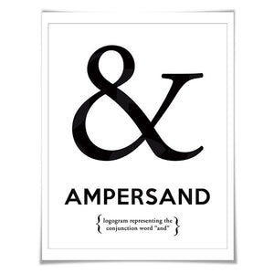 Ampersand Punctuation Print. 60 Colours/5 Sizes. Grammar Poster. Classroom Art. English Teacher Gift.