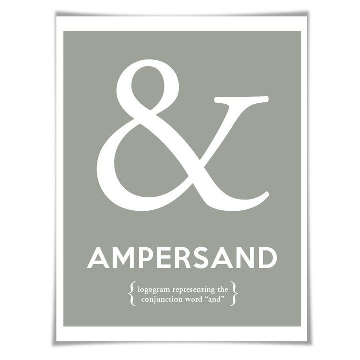 Ampersand Punctuation Print 60 Colours Grammar Poster Classroom Art English Teacher Gift