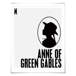Anne of Green Gables. Lucy Maud Montgomery. Literary Art Print. 4 Sizes. Literature Poster. Book Art