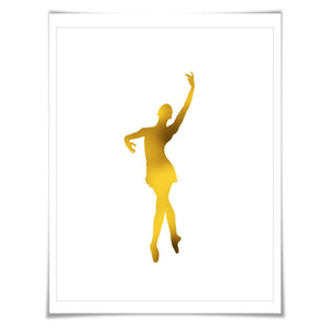 Ballerina 3 Gold Foil Art Print. 7 Foil Colours/3 Sizes. Ballet Dancer Poster. Dance Art. Nursery Art