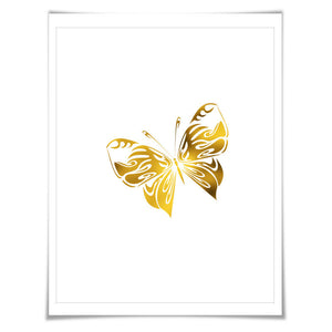 Butterfly Gold Foil Art Print. 7 Foil Colours. 3 Sizes. Butterfly Poster, Nursery Art Print