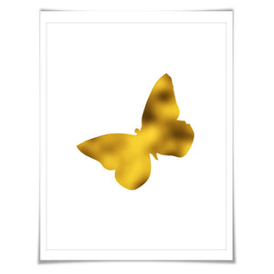 Butterfly Gold Foil Art Print. 7 Foil Colours. 3 Sizes. Butterfly Poster, Nursery Art Print, Animal Art