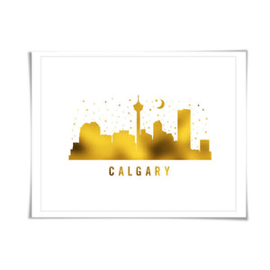 Calgary Skyline Gold Foil Art Print. 7 Foil Colours/3 Sizes. Travel Poster. City Skyline Art