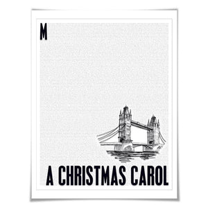 A Christmas Carol. Charles Dickens. Literary Art Print. 4 Sizes. Literature Poster. Book Art