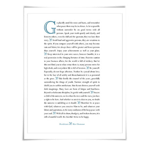 Desiderata Max Ehrmann Art Print. 60 Colours/4 Sizes. Poetry Poster. Inspirational. Graduation ...