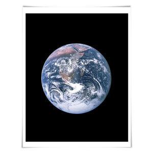 Planet Earth Art Print. 60 Colours/5 Sizes. Earth Illustration Astronomy Space Poster Science Celestial Classroom