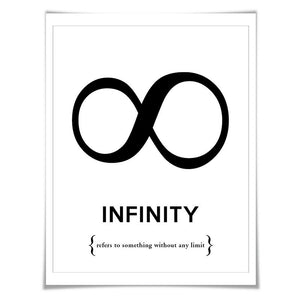 Infinity Symbol Punctuation Print. 60 Colours/5 Sizes. Grammar Poster. Classroom Art. English Teacher Gift.