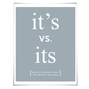 Apostrophe Punctuation Print. 60 Colours/5 Sizes. Grammar Poster. Classroom Art. English Teacher Gift.