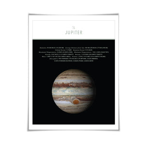 Planet Jupiter Art Print. 4 Sizes. Solar System Astronomy Space Poster Science Celestial Classroom