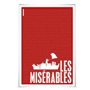 Les Miserables by Victor Hugo. Literary Art Print. 4 Sizes/60 Colours. Literature Poster. Book Art
