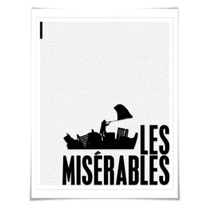 Les Miserables by Victor Hugo. Literary Art Print. 4 Sizes. Literature Poster. Book Art