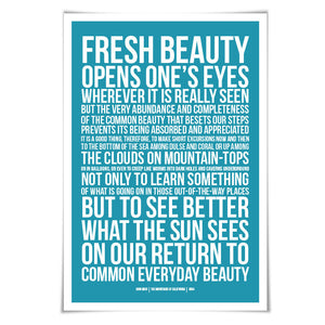 John Muir Quote Art Print. 60 Colours/3 Sizes. Nature Poster. History. National Parks. Mountain Print. Camping. Hiking