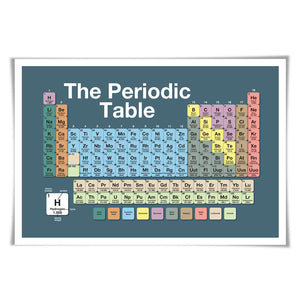 Periodic Table of the Elements Art Print. 60 Colours/3 Sizes. Chemistry School Poster Education Science Classroom Art