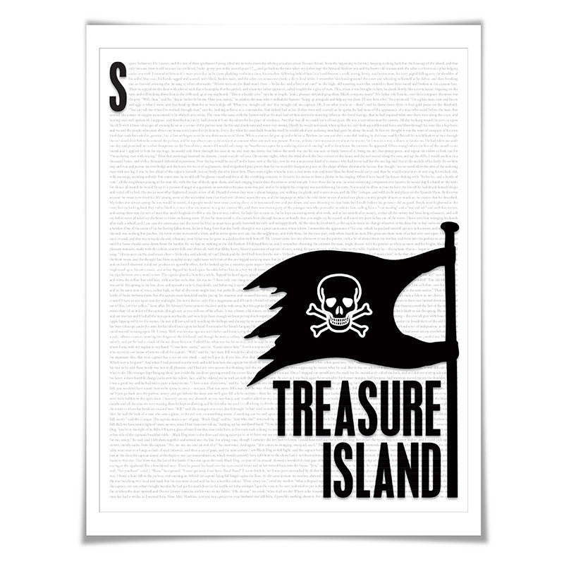 Treasure Island. Robert Louis Stevenson. Literary Art Print. Literature Poster. Book Art