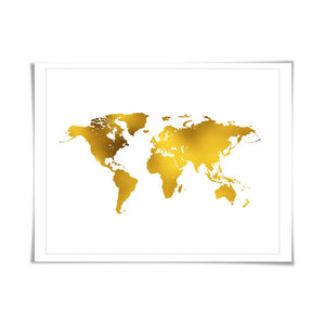 Gift guide travel page 14 folio print boutique world map gold foil art print 7 foil colours3 sizes world map gumiabroncs Images